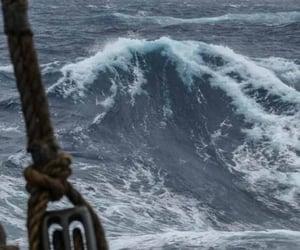 sea, ocean, and pirate image