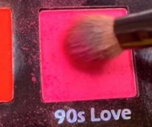 pink, 90s, and makeup image