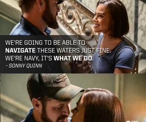 seal team, lisa davis, and sonny quinn image
