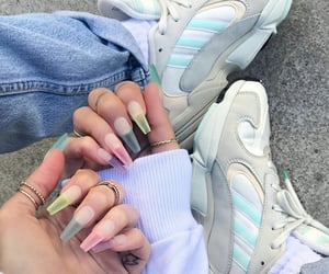 nails, sneakers, and i love you paradise image