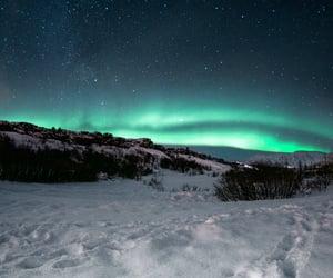 aurora, aurora borealis, and cold image