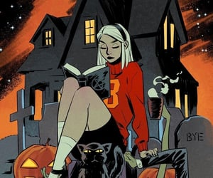 witch, Halloween, and art image