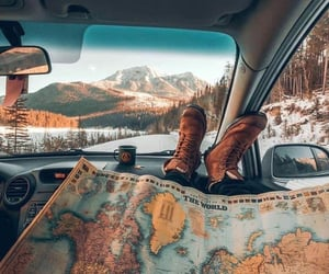 map, travel, and roadtrip image