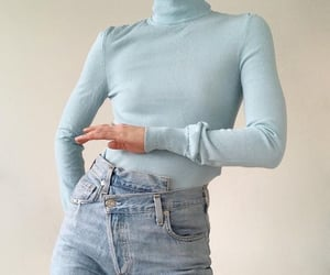 blue, jeans, and style image