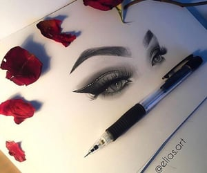 beauty, drawing, and flowers image