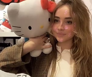 celebrities, hello kitty, and sabrina carpenter image