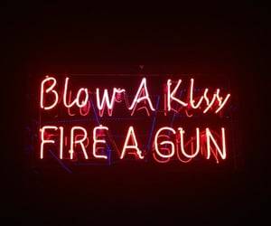 red, gun, and fire image