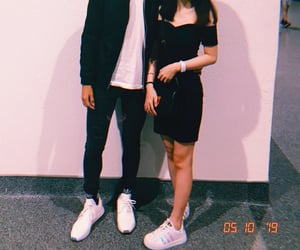 adidas, asian, and black dress image
