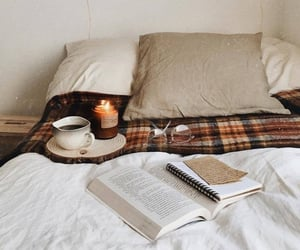 autumn, bedroom, and book image