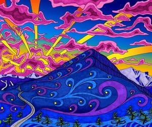 colors, art, and mountains image