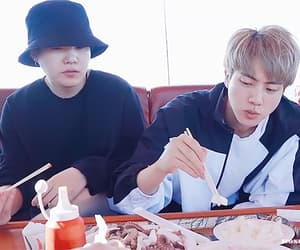 gif, jin, and taehyung image