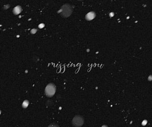 missing you, monochrome, and lockscreen image