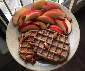 apple, food, and waffles image