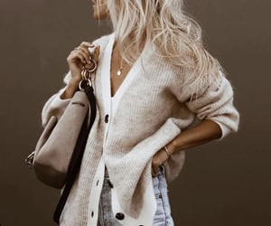 aesthetic, cardigan, and chic image