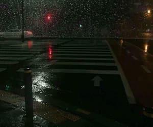 night, rain, and aesthetic image