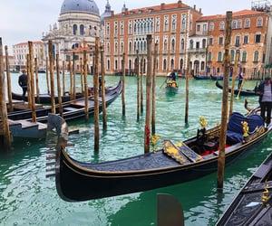 italia, landscape, and venise image