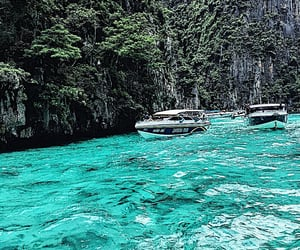 boat, travel, and ocean image