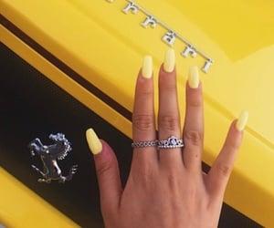 yellow, ferrari, and nails image
