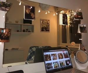 autumn, christmas lights, and coffee image