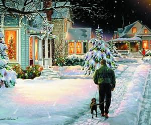 christmas lights, christmas tree, and magical image
