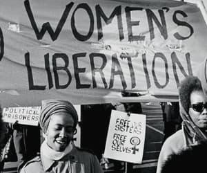 black and white, feminism, and feminist image