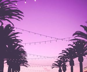 wallpaper, pink, and sunset image