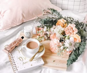 bed, stylish, and coffee image