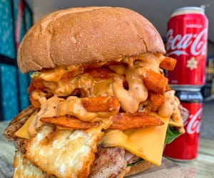 burger, food, and meat image