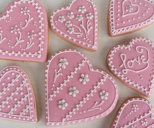 pink, sweet, and Cookies image