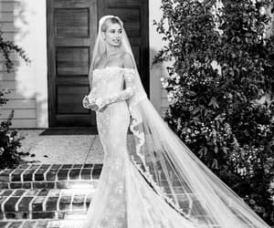 hailey baldwin, bridal, and wedding image