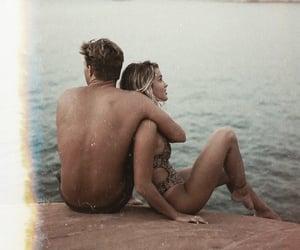 couple, hug, and style image
