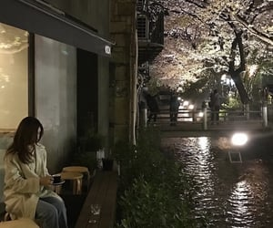 aesthetic, cherry blossom, and girl image