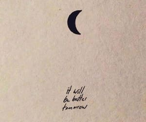 quotes, moon, and words image