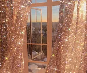 aesthetic, window, and glitter image