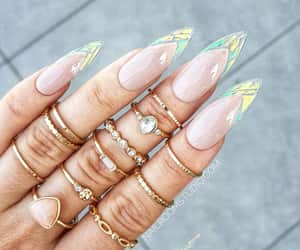 etsy, broken glass nails, and nude false nails image