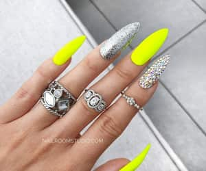 etsy, handpainted nails, and pop on nails false image