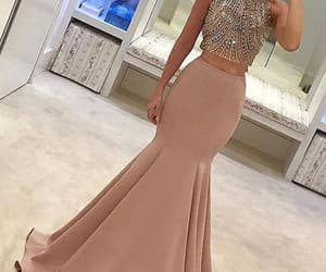 formal dress, mermaid evening dress, and 2 piece prom dresses image