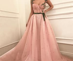 fashion, prom gown, and pink prom dress image