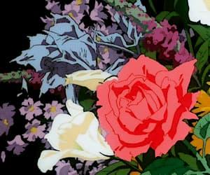 animation, flowers, and grunge image