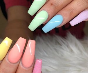 colors, nails, and paint image