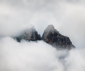 mountains, nature, and clouds image