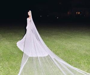 bridal, veil, and hailey baldwin image