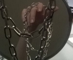 black, chains, and goth image