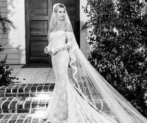 hailey baldwin, hailey bieber, and wedding image
