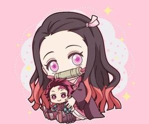 anime girl, chibi, and hug image