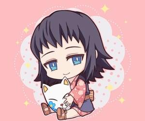 anime girl, chibi, and makomo image