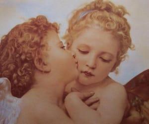 angel, kiss, and art image