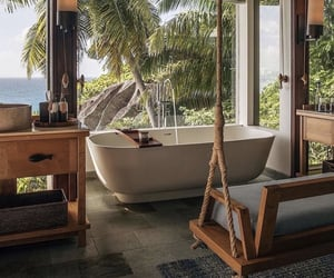 seychelles, bathroom, and home image