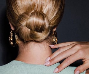 blonde, nails, and fashion image