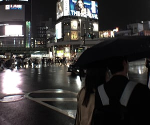 asian, couple, and dark aesthetic image